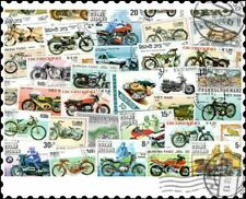 More details for motorcycles & motorbikes : 100 different stamps collection
