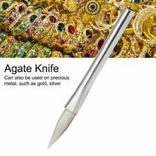 Polishing Burnisher Agate Knife Metal Silver Jewelry Clay Craft Jewellers Tool