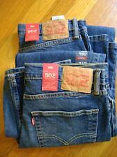 NWT, $70. MSRP, Men's Levis 502 Regular Taper Stretch Blue Jeans Levi