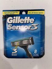 gillette sensor 3 razor blades - 8 cartridges