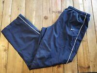 Vintage Nike Track Pants Windbreakers lined Swoosh Blue  Men X-large XL