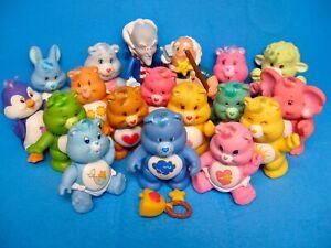 Vintage 1980's CARE BEARS Poseable PVC (13) Bears (2) Friends & (4) Cousins