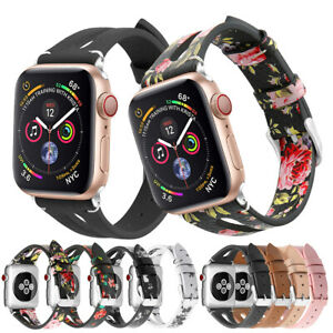 for Apple Watch Series 5 4 3 2 Leather Watch Bands Wristband Strap 38/40/42/44mm