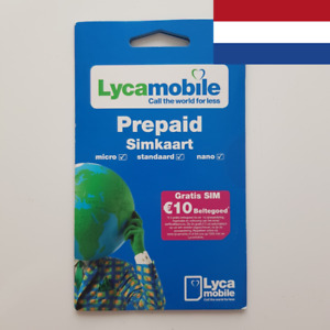 Anonymous Pay As You Go NL Lycamobile SIM card. Sim card from the Netherlands