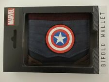 Captain America Marvel Chrome Weld Patch Gift Boxed Bifold Wallet