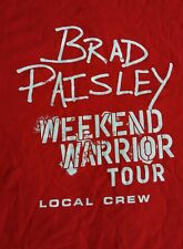 Brad Paisley Weekend Warrior Tour Crew Concert T Shirt