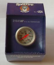 Splitfire (mech) oil temperature gauge, 100-340F, silver face, (52mm) 21641AF