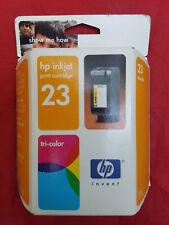 GENUINE NEW HP 23 Ink Cartridge Tri-Color Toner Printer Hewlett Packard C1823D