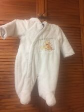 George Disney White Snow Suite With Tigger And Pooh Disney 0-3 Months