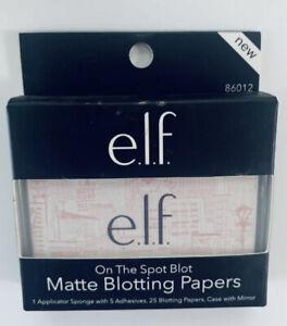 e.l.f. On The Spot Blot Matte Blotting 25 Papers Case & Mirror Translucen Powder