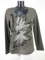 LUISA CERANO Damen Pullover Gr 42 DE / Grau mit Motiv Neuwertig ( R 2828 R )