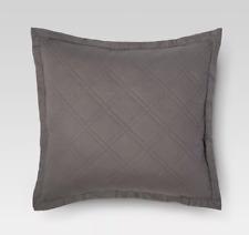 THRESHOLD Linen Cotton Blend Sham, EURO, Dark GRAY , 26 x 26, NEW