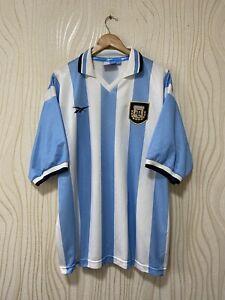 ARGENTINA 1999 2000 HOME FOOTBALL SHIRT SOCCER JERSEY REEBOK sz 46/48 MENS VINTA