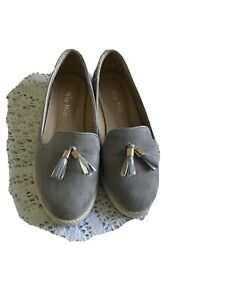 Soft Grey Womens Loafers Size 4