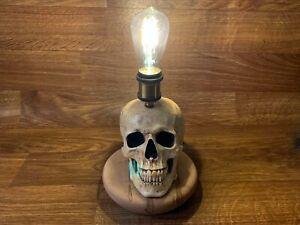 Aha! I've Got an Idea, Human Skull Table Lamp