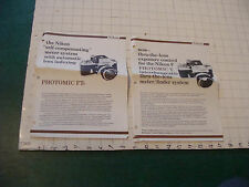 Original CAMERA Papers: 2 PHOTOMIC T & FTN, 1970 papers, some wear, folded