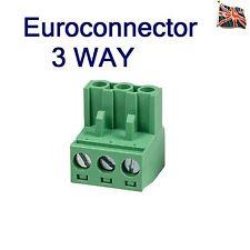 3 Pin Euroconnector Euro-Block Professional Audio Connector 3 way UK Stock