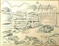 Disney Pixar Cars Animation Art Drawing Storyboard Signed Jorgen Klubien