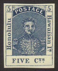 1853, Hawaii 5c, MNG Forgery, Sc 5, Mi 5x