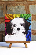 Havanese Ceramic Coaster Tile