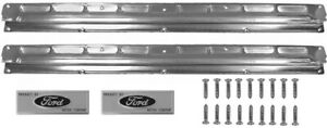 NEW! 1965-1966 Ford Mustang COUPE Fastback SCUFF PLATES Pair W/ Screws, Plates