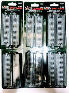 """Lots of 6 Kato 20-420 124mm  4 7/8"""" Single Track Straight Viaduct Track N Scale"""