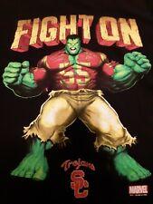 Usc Trojans Authentic Apparel Marvel Hulk Fight On T-Shirt Black Men's M