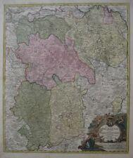 Original 1720 Homann Map Duchy Brabant BELGIUM Louvain Antwerp Brussells Breda