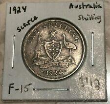 1924 Australia Shilling - Scarce Date