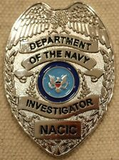 US Navy NACIC Investigator Badge Challenge Coin AWOL Military not NYPD Police