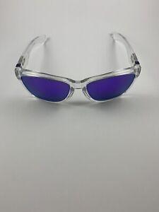 Oakley Jupiter Polished Clear Violet Iridium 03-247 Purple Icons RARE