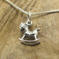Cute & Rare Rocking Horse .925 Silver Pendant