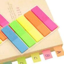 100X Fluorescence Sticky Notes Memo Flags Bookmark Sticker 2020 N9Q8 New E2F9