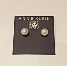 ANNE KLEIN CREAM FAUX PEARL STUD EARRINGS