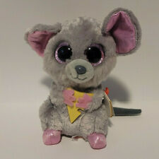 """New listing Ty Beanie Boos Squeaker the Mouse w/ Glitter Eyes Plush Stuffed Toy Animal 6"""""""