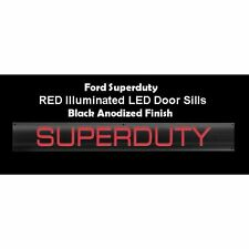 RECON 264121FDBKRD 1999-2016 Ford Superduty Black-Red Emblems Illuminated door
