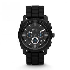 NWOT Fossil Men's FS4487 Machine Chronograph Silicone Watch - Black