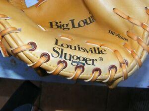 *New* Big Louie/Louisville Slugger LSG6 Rawhide/ Leather Baseball Glove&baseball