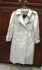 "Burberry beige trench coat/raincoat, 36"" chest"