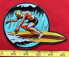 Vintage Summer Surfing Sew On Collectors Patch Water Sports Surfing Collectibles