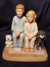 "Norman Rockwell Collectors Club ""Santa's Visit� Ceramic Figurine 1982"