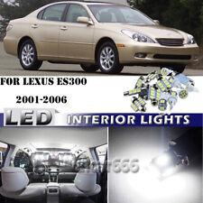 Bright White Kit LED Interior Car Lights for 2001 2002 - 2006 Lexus ES300 ES330