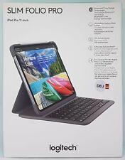 "Logitech Slim Folio Pro für iPad Pro 27,94 cm (11"") 3. Gen Tablethülle Grau -OVP"