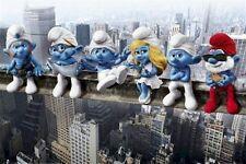 THE SMURFS ~ MANHATTAN GIRDER LUNCH ~ 24x36 MOVIE POSTER ~ Smurfette New York