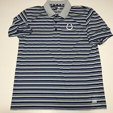Men's Nfl Football Indianapolis Colts Striped Shirt Blue Ss Golf Polo Large Euc