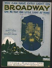 You Can Have Every Light On Broadway Give Me That One Little Light At Home 1922