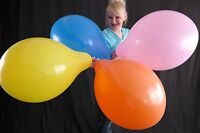 "5 x PARTYSTYLE 17"" Luftballons *GEMISCHTE FARBEN* ASST COLORS * MADE BY TUF-TEX"