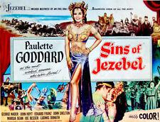 "1953 Original MOVIE POSTER Film PAULETTE GODDARD Bible ""SINS OF JEZEBEL"" Bible"