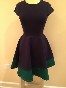 New with tags Julie Brown Fern Color Block 2-tone dress Size L 8/10
