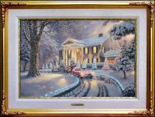 Thomas Kinkade ~~ Graceland Christmas 18x27 Renaissance Edition R/E